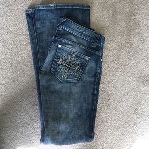 Guess Jeans Studded Cross Flare Jeans